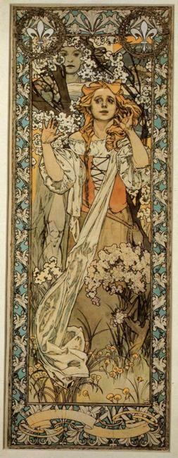 Alphonse Mucha. Joan of Arc (Maude Adams).
