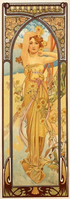 Alphonse Mucha. Brightness of Day. From The Times of the Day Series.