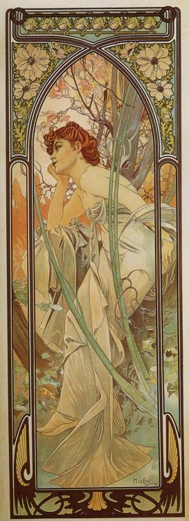 Alphonse Mucha. Evening Contemplation. From The Times of the Day Series.