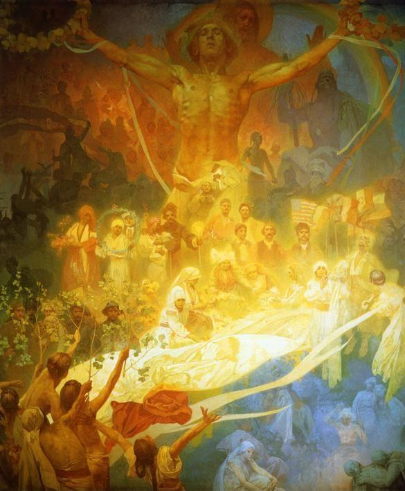 Alphonse Mucha. The Apotheosis of the Slavs.