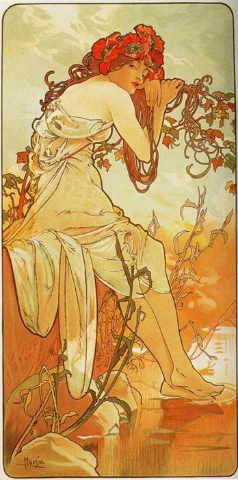 Alphonse Mucha. Summer. From The Seasons Series.