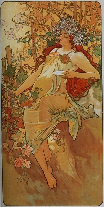 Alphonse Mucha. Autumn. From The Seasons Series.
