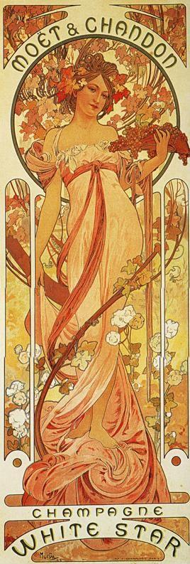 Alphonse Mucha. Moët & Chandon -  White Star.
