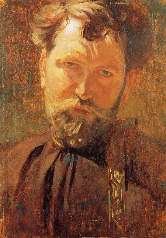 Alphonse Mucha. Self-Portrait.