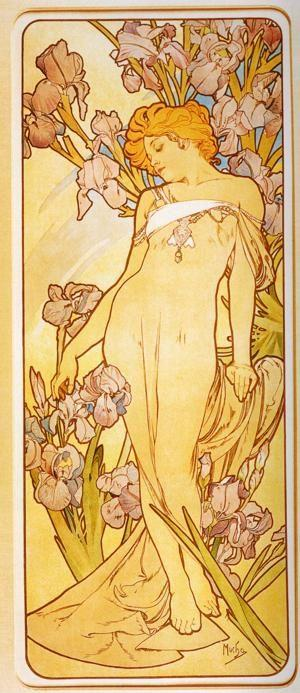 Alphonse Mucha. Iris. From The Flowers Series.