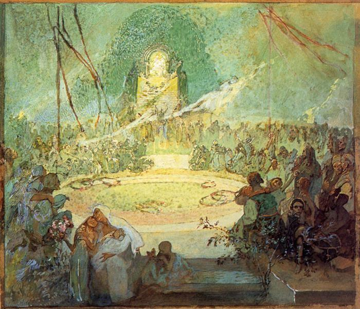 Alphonse Mucha. Age of Love.