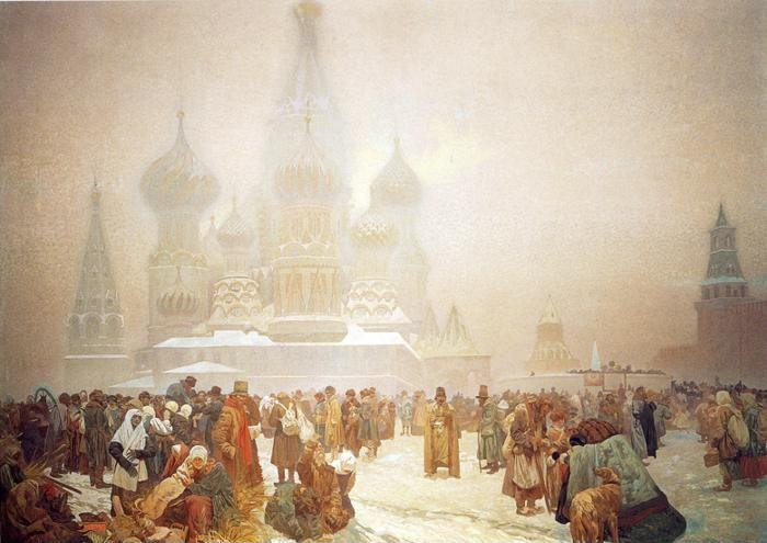 Alphonse Mucha. The Abolition of Serfdom  in Russia.