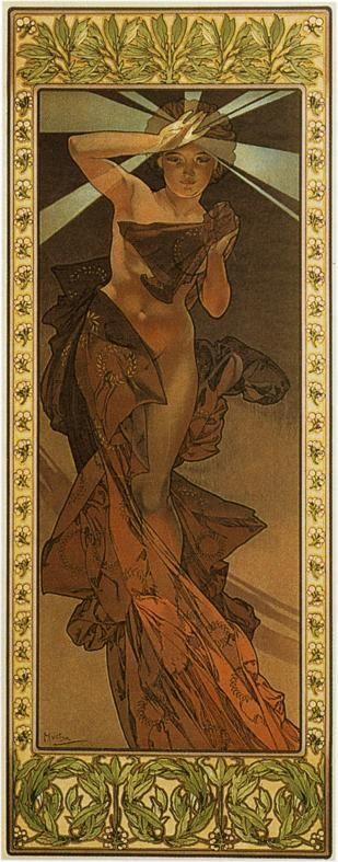 Alphonse Mucha. Morning Star. From The Moon and the Stars Series.