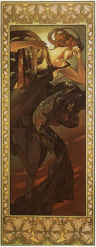 Alphonse Mucha. Evening Star. From The Moon and the Stars Series.