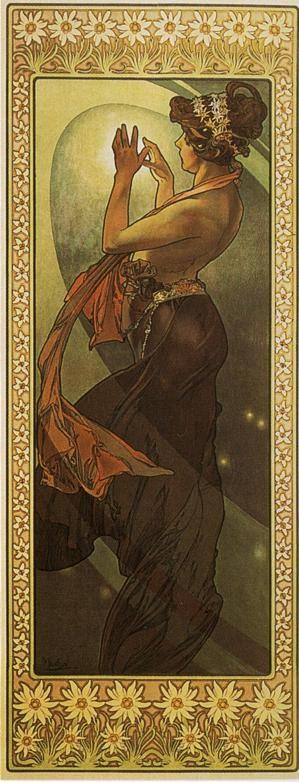 Alphonse Mucha. Pole Star. From The  Moon and the Stars Series.