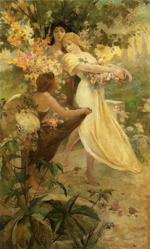 Alphonse Mucha. Flower.