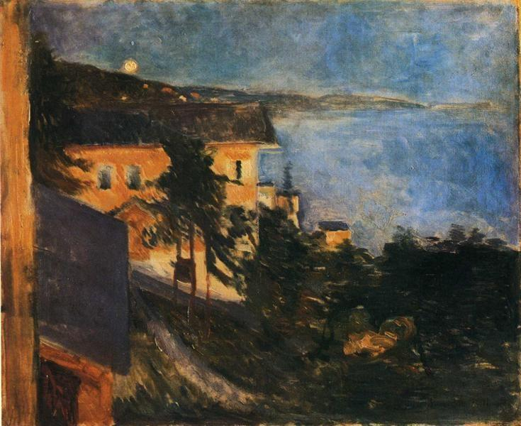 Edvard Munch. Moonlight over Oslo Fjord.