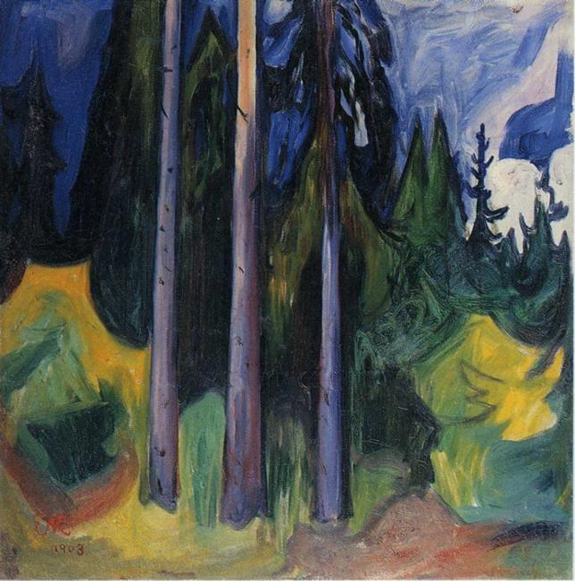 Edvard Munch. Forest.