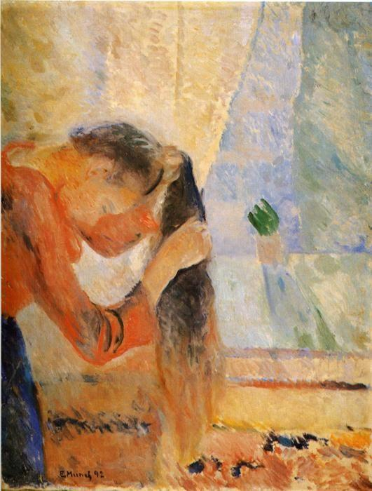 Edvard Munch. Girl Combing Her Hair.