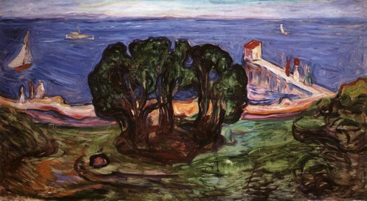 Edvard Munch. Trees on the Shore. Panel from the Linde Frieze.