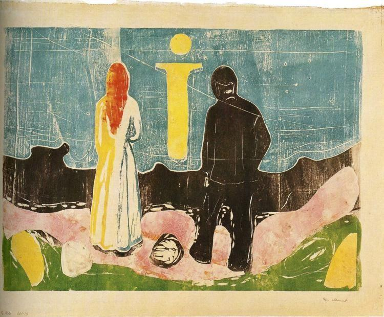 Edvard Munch. Two People. The Lonely Ones.