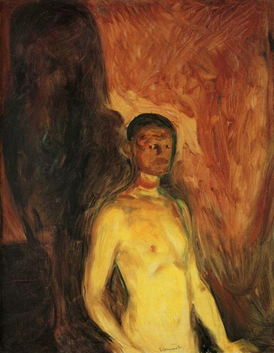 Edvard Munch. Self-Portrait in Hell.
