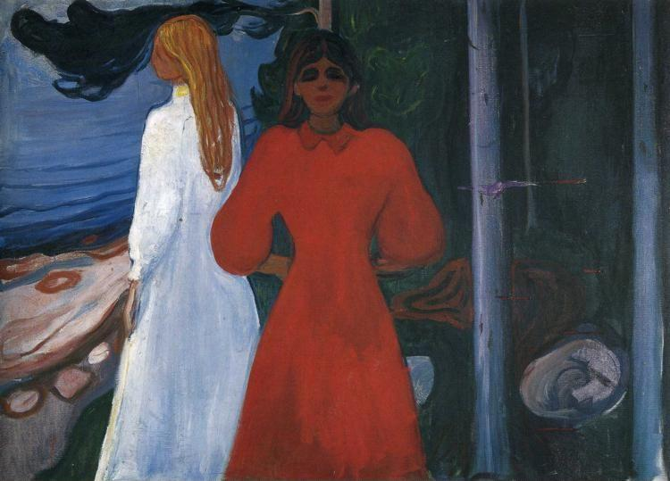 Edvard Munch. Red and White.