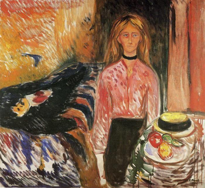 Edvard Munch. The Murderess.