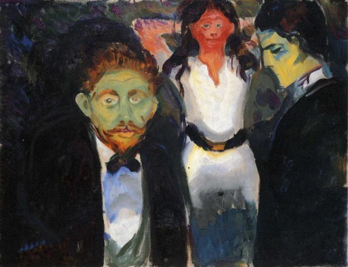 Edvard Munch. Jealousy. From the series The Green Room.