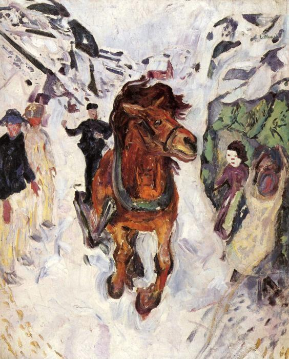 Edvard Munch. Galloping Horse.