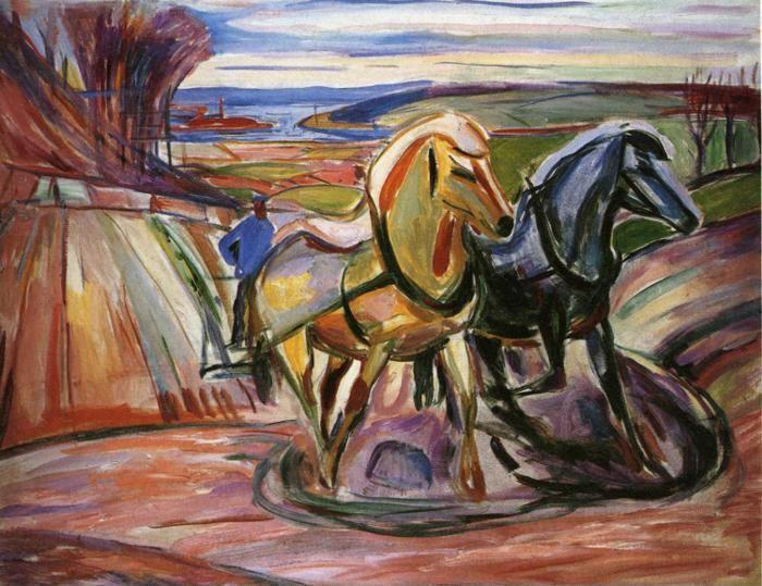 Edvard Munch. Spring Plowing.
