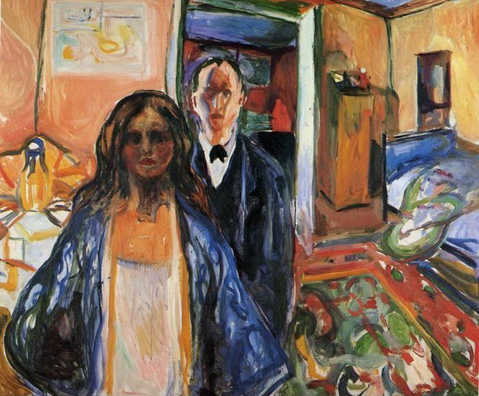 Edvard Munch The Artist And His Model