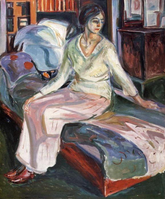 Edvard Munch. Model on the Couch.