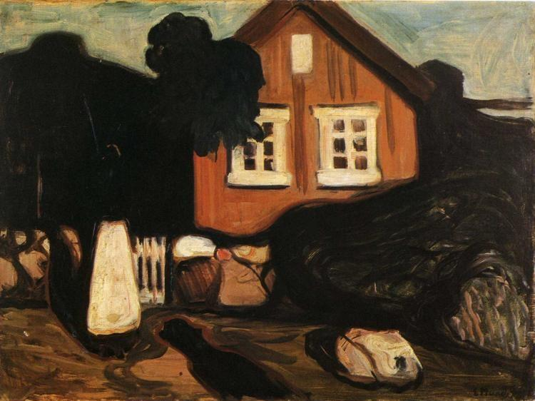 Edvard Munch. House in Moonlight.