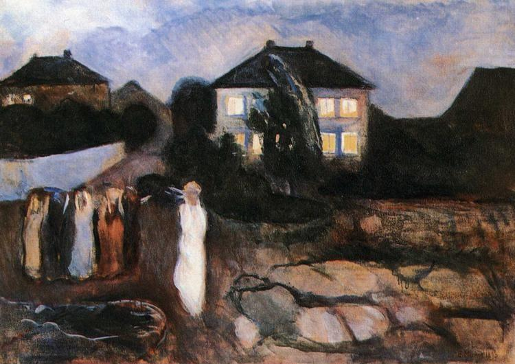 Edvard Munch. Stormy Night.