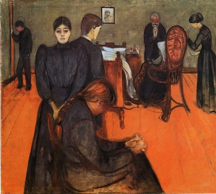 Edvard Munch. Death in the Sick Chamber.