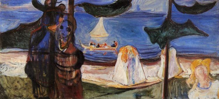 Edvard Munch. Summer Day (from the Linde  Frieze).