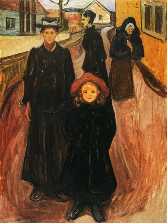 Edvard Munch. Four Ages in Life.