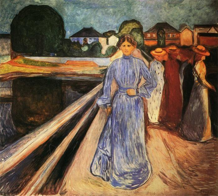 Edvard Munch Women On The Bridge