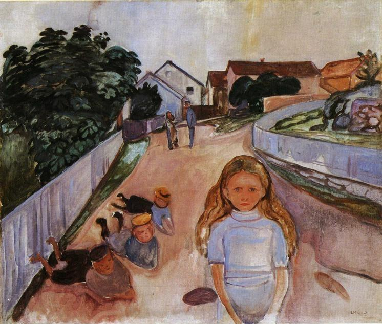 Edvard Munch. Street in Asgardstrand.