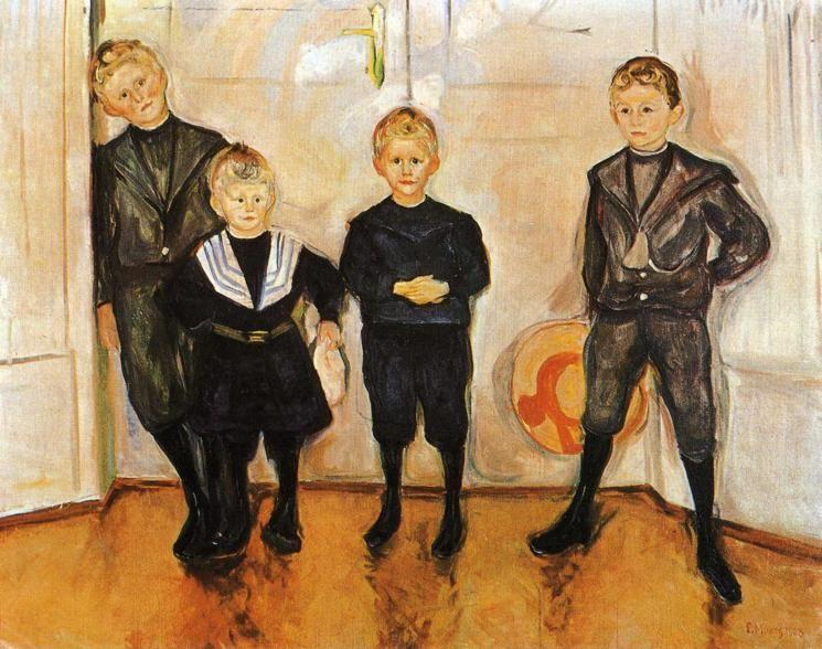 Edvard Munch. The Four Sons of Dr. Linde.