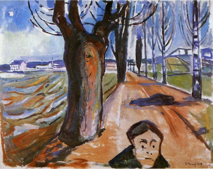 Edvard Munch. The Murderer in the Lane.