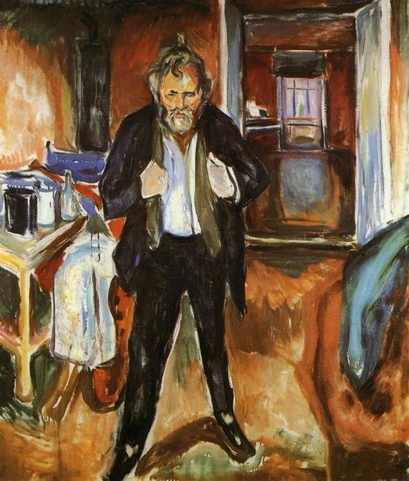 Edvard Munch. Self-Portrait (in distress).
