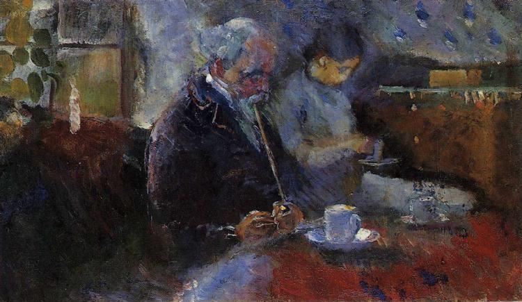 Edvard Munch. At the Coffee Table.