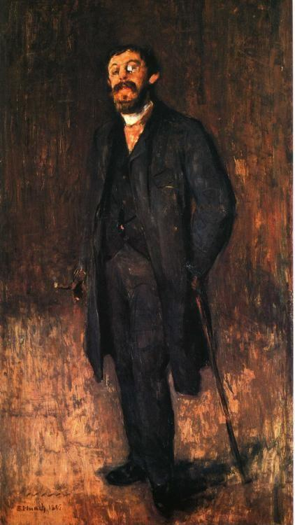 Edvard Munch. Portrait of the Painter Jensen-Hjell.