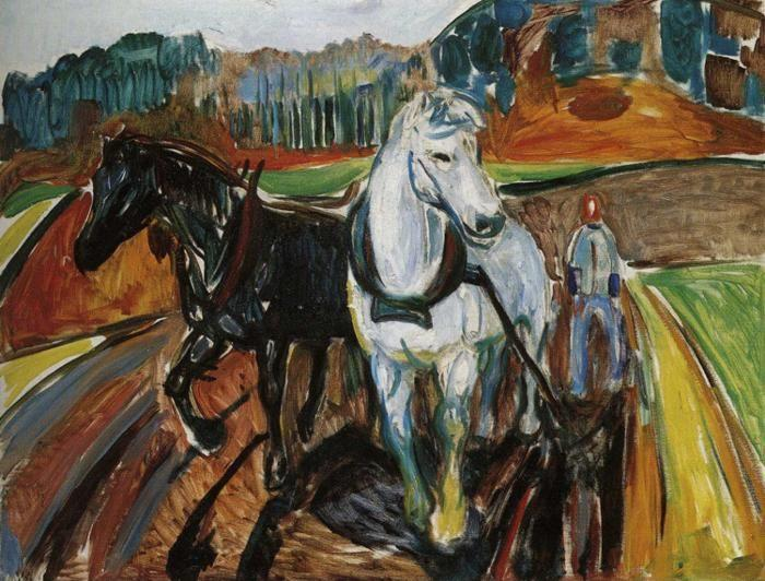 Edvard Munch. Horse Team.