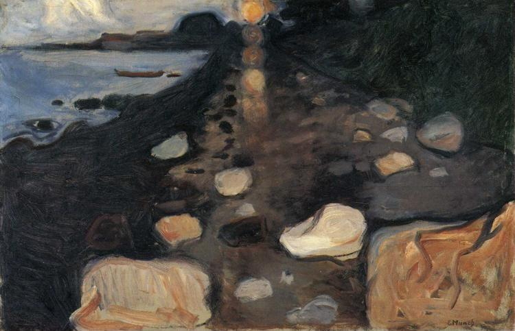 Edvard Munch. Moonlight on the Shore.
