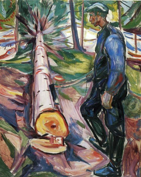 Edvard Munch. The Lumberjack.