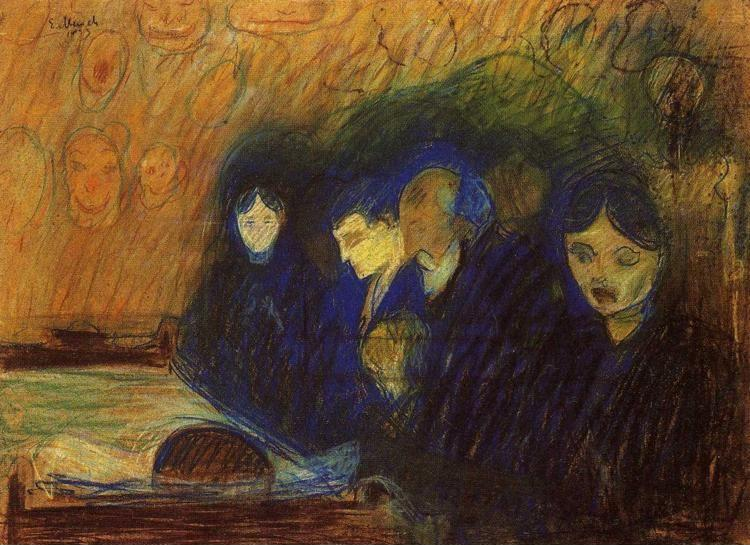 Edvard Munch. By the Deathbed (Fever).