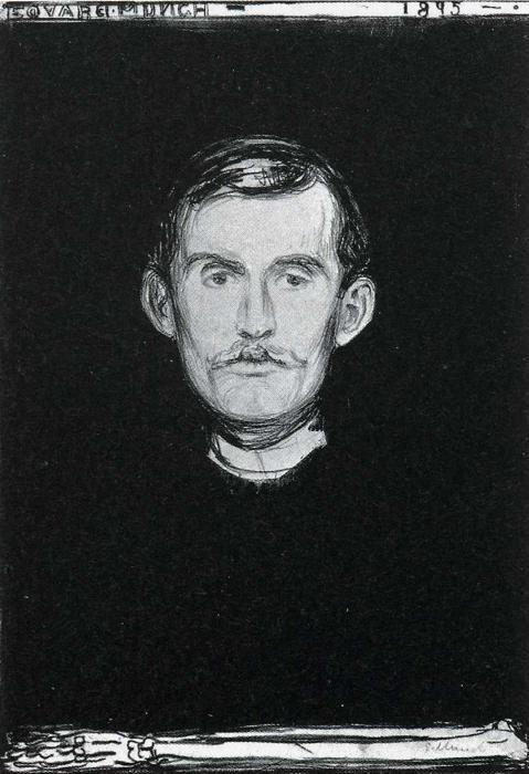 Edvard Munch. Self-Portrait with Skeleton  Arm.