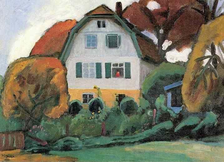 Gabriele Münter. The Russians' House.