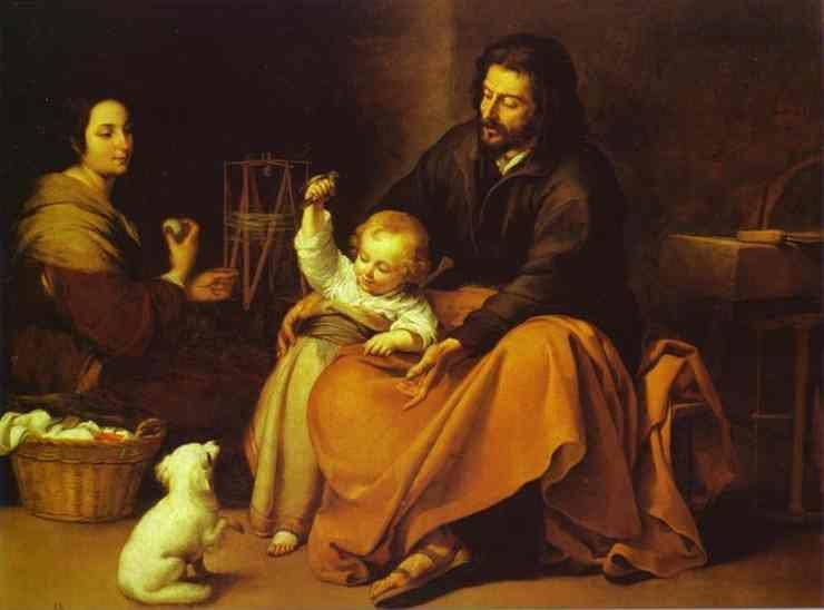 Bartolomé Esteban Murillo. The  Holy Family with a Little Bird.