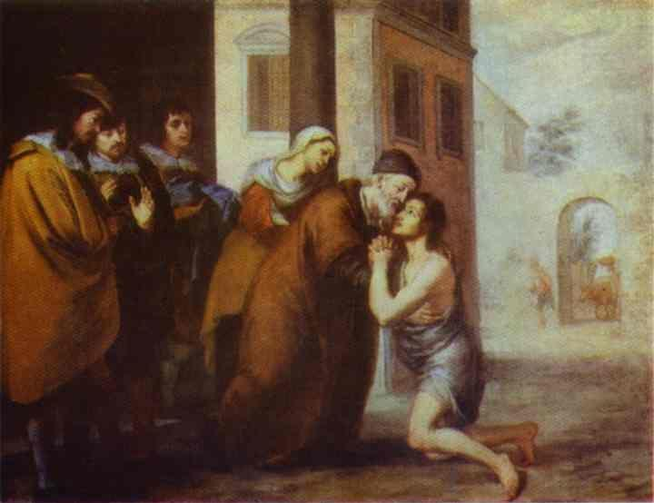 Bartolomé Esteban Murillo. The  Return of the Prodigal Son.