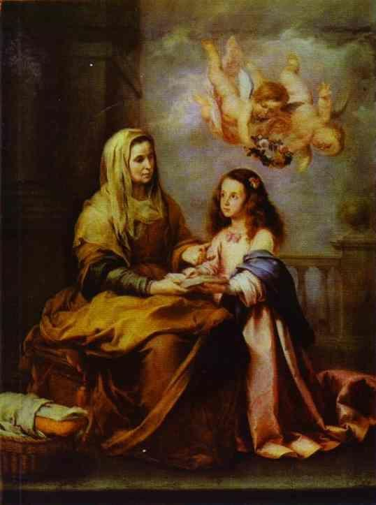 Bartolomé Esteban Murillo. Childhood  of Virgin.