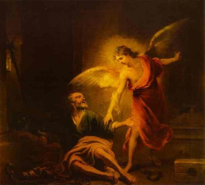 Bartolomé Esteban Murillo. Angel  Rescues St. Peter from Prison.